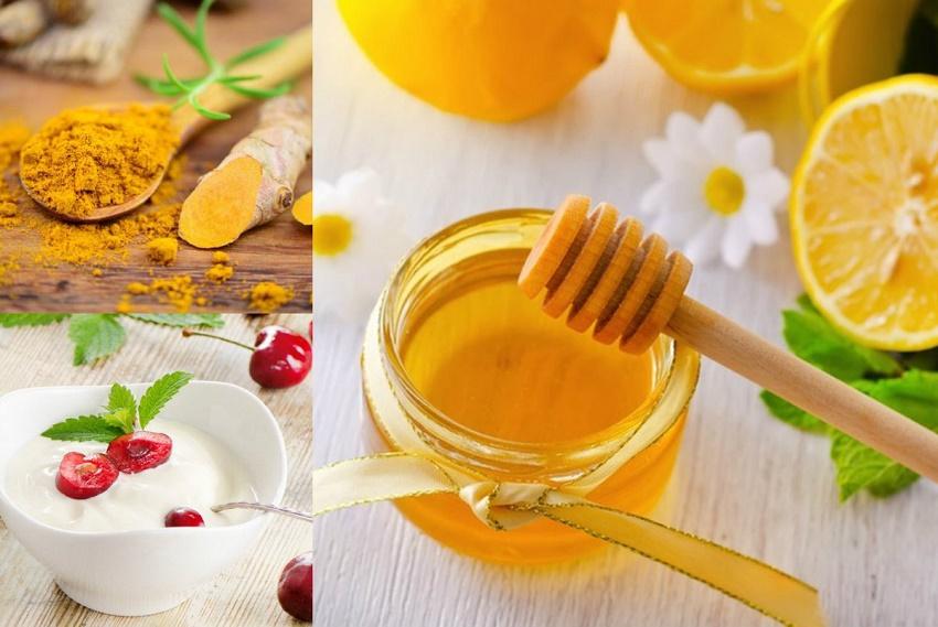 Kem dưỡng trắng da mặt bằng mật ong, bột nghệ, sữa chua và chanh
