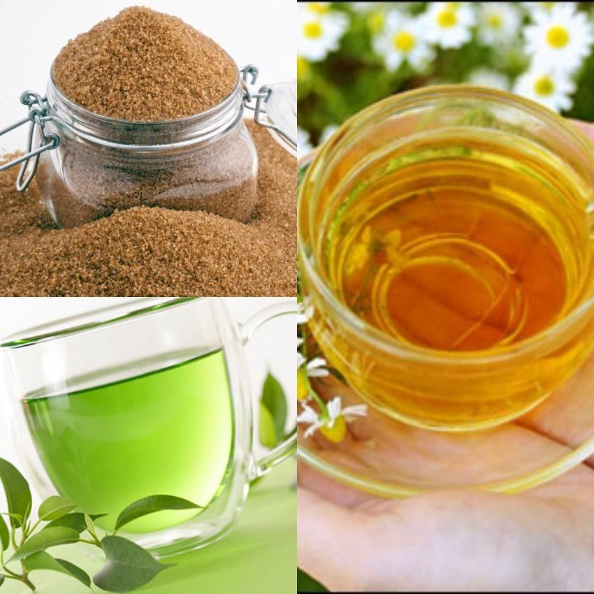 ước chè xanh, đường và mật ong