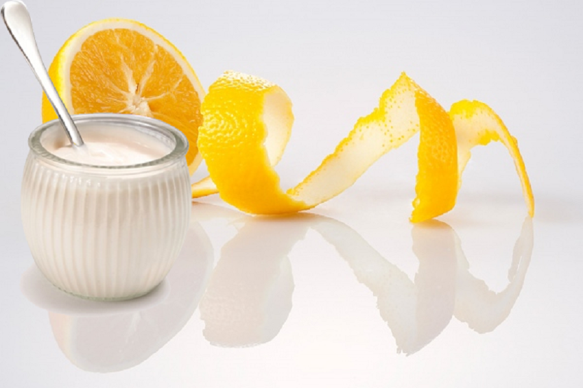 Kem tắm trắng từ sữa chua và nước cam