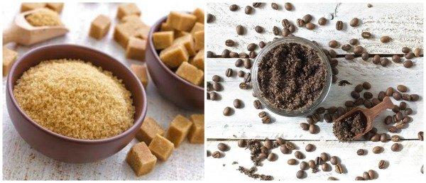 Hưỡng dẫn chăm sóc da mặt bằng tẩy tế bào chết bằng bã cafe và đường nâu