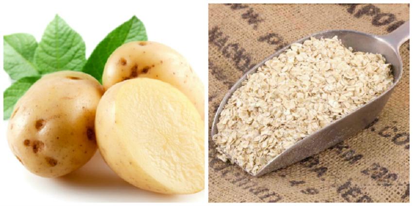 Cách làm trắng da toàn thân bằng khoai tây và bột yến mạch
