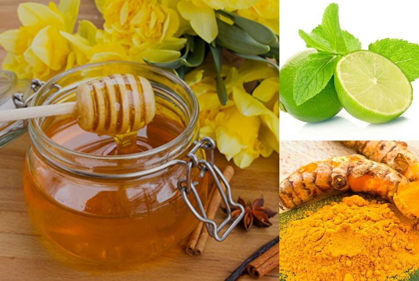 Tự làm kem dưỡng trắng da mặt với mật ong + chanh + bột nghệ