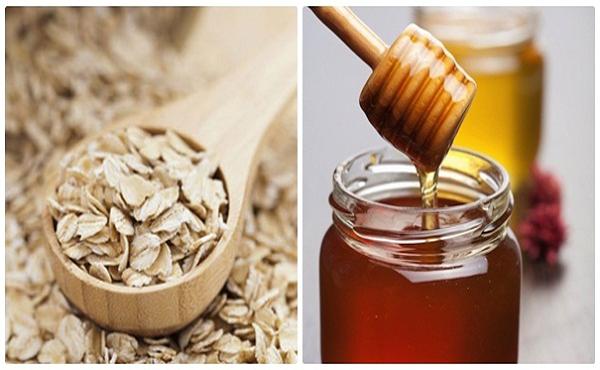 Mặt nạ yến mạch mật ong và tinh bột nghệ