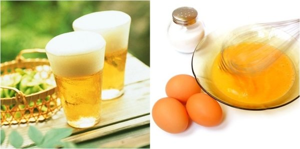 Bia kết hợp với trứng gà