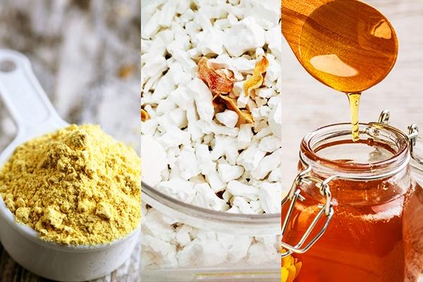 Mặt nạ bột sắn dây, mật ong và bột nghệ