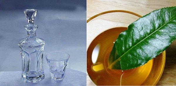 Mặt nạ từ rượu trắng và trà xanh