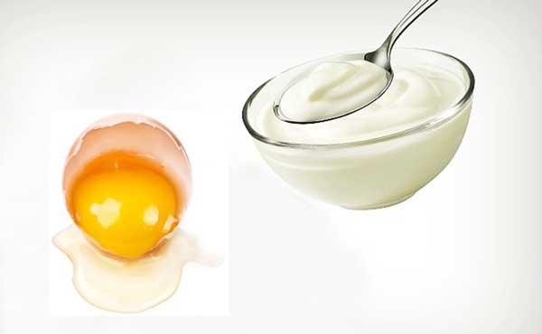 Trị mụn bằng sữa chua và trứng gà