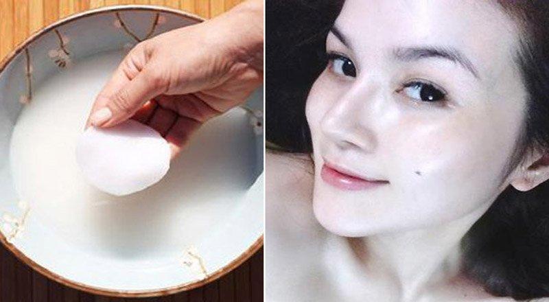 5 tác dụng tuyệt vời của nước vo gạo đối với da mặt