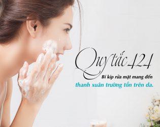 Trẻ hóa tại nhà bằng phương pháp rửa mặt trẻ hóa da Nhật Bản 247