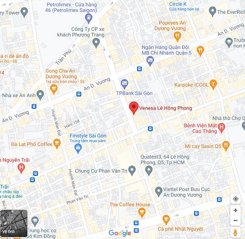 venesa lê hồng phong địa chỉ ở đâu