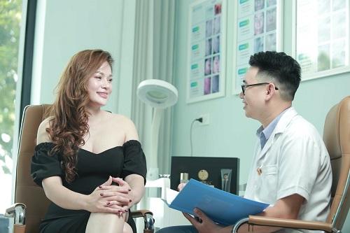 Khách hàng T.L.T sau quá trình trẻ hoá tại Venesa Nguyễn Thông
